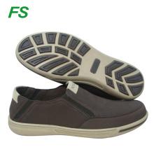 chaussures de toile pour hommes, chaussures en tissu plat, vente en gros chaussures de bateau pour hommes