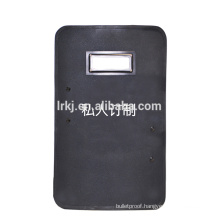 Cost-efftive Black Ballistic shield NIJ level 3 for army/minitary