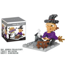 DIY Witch Hallowmas Carlin Building Blocks Toy Flash Music Box