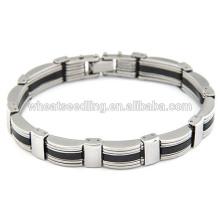 Bracelet mode homme punk bracelet en acier inoxydable