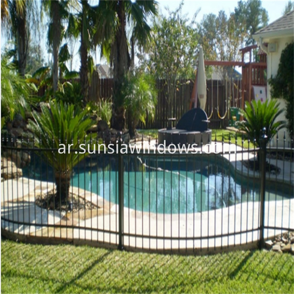 Aluminium Black Swimming Pool Fence