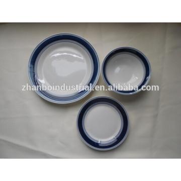 Cena china de la porcelana de la multa del estilo clásico fijada con la calcomanía