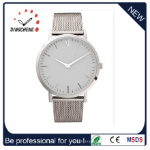 Relógio de pulso de quartzo de moda relógios homens relógio de aço inoxidável de senhoras (dc-1055)