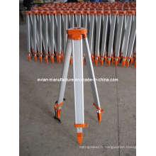Trépied d'arpentage en aluminium pour niveau automatique, théodolite, station totale (EV-L003)