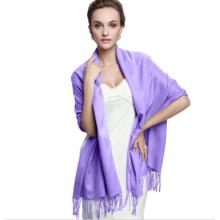 Мода женщин длинный кашемир пашмины шарф Wrap (66061)