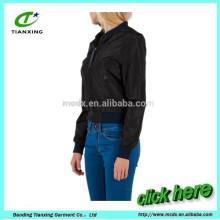 Весна черный цвет дамы байкер куртка
