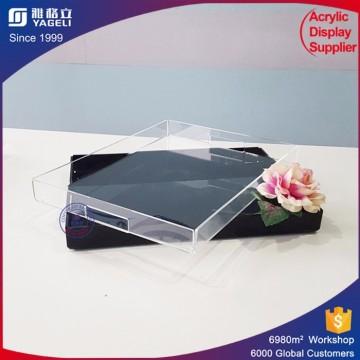 Custom Clear Runde Acryl Obst Tablett