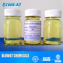 Polyamine de coagulant catiqueux pour traitement des eaux usées