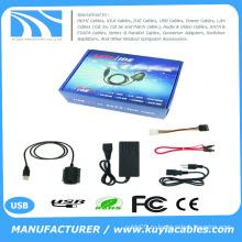 KuYia USB IDE SATA / PATA / IDE привод к адаптеру USB 2.0 Кабель конвертера для жесткого диска 2,5 / 3,5