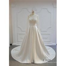 Robes de mariée en dentelle sexy à col en V Robes de mariée en robe de bal