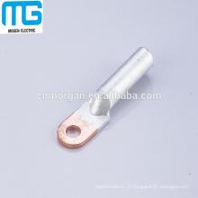 Terminais de cabo de alumínio de cobre série DTL-1, terminais de conexão de cabo tubular metálico com alta condutora, aprovação CE