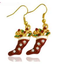 Bijoux de Noël / Boucle d'oreille de Noël / Chaussette de Noël (XER13373)