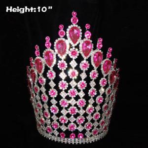 Coronas grandes grandes de 10 pulgadas con diamantes rosas