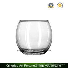 Porte-bougie en verre rond en verre Fabricant