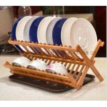 Prateleiras de prato de cozinha de bambu (se604)
