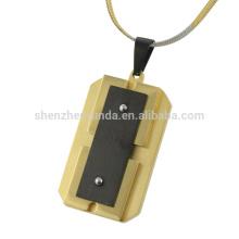 Nuevo diseño de acero inoxidable chapado colgante de oro barato para los hombres