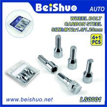 4 + 1PCS gehärteter Stahlrad-Ansatz-Bolzen