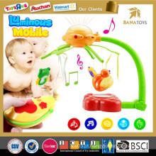 Novo design rc musical elétrico bebê móvel sino cama de bebê pendurado brinquedo