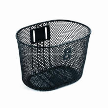 Stainless Steel Wire Black Bicycle Basket