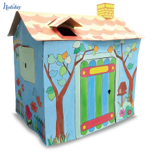Custom Size & Logo Durable Cardboard Doll House