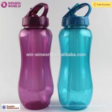La botella de agua plástica portátil caliente del palillo del hielo del deporte de Saleing Sport BPA libera con el envase del cubo de hielo