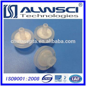 Filtro de seringa de 13mm Tamanho de poro hidrófilo PTFE 0.45um