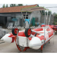 luxury RIB boat fiberglass hull HH-RIB380 with CE