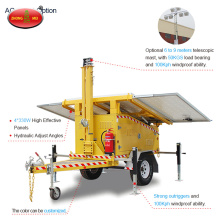 Trailer Mounted Construction Solar Mobile Tower Light
