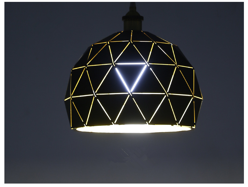 Classical Black Pendant Light Light On