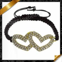 Corazón pulsera de amor pulseras de la joyería al por mayor para el regalo de las mujeres (fb068)