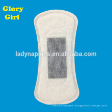 Slim with cotton top sheet for day time use and ultra thin bamboo charcoal panty liners