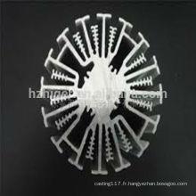 profilé en aluminium pour dissipateur thermique / dissipateur thermique à LED / dissipateur thermique en aluminium