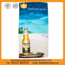 heat transfer printing 100% polyester beach towel for beer promotional