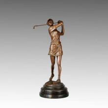 Sports Bronze Sculpture Joueur de golf Décoration de sculpture Statue en laiton, Milo TPE-748