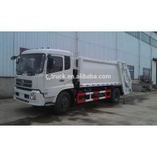 Camión de basura del compresor de 4X2 Dongfeng / camión de basura compacto / camión del compresor / camión de basura del brazo del gancho / camión de basura del brazo oscilante