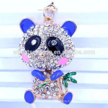 Fashion Yiwu jewelry 2015 best seller OEM panda crystal metal keychain wholesale