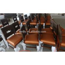 Отель Ресторан мебель деревянная рама ротанга ткать барный стул для продажи