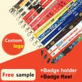 Einziehbare ID-Karte / Abzeichenhalter / Rolle bedruckte benutzerdefinierte Lanyards zum Verkauf