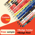 Retractable ID Card/Badge Holder/Reel Printed Custom Lanyards for Sale