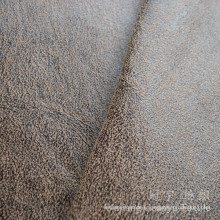 Bronzing Suede Polyester Leather Fabric for Slipcovers
