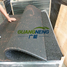 Black Color Gym Rubber Tile, 25mm Thick with Groove, Size 1000*1000