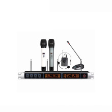 China Custom Four Channels Vhf Wireless Microphone Cordless And Speaker