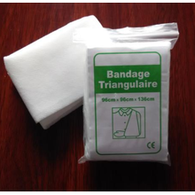Bandage triangle médical en coton jetable