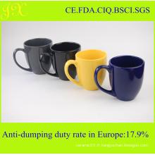 Tasse en céramique colorée FDA dans différentes couleurs