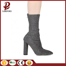 ladies elastic Scrub fabric spring boots