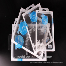Boîte en plastique pliante faite sur commande d'emballage de PVC pour la boîte d'emballage de caisse de téléphone portable avec le journal