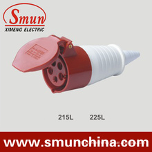 5pin Mobile Socket 16A/32A IP44 Red 415VDC Industrial Coupler