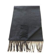 Mischung 50% Kaschmir 50% Wolle Mittelschwerer schwarzer Schal