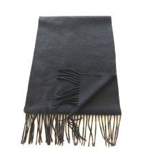 blend 50% cashmere 50% wool medium plain black scarf