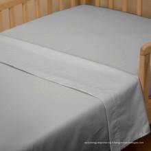 Feuille plate d'hôtel d'armure de toile de 100% coton (WSFS-2016010)